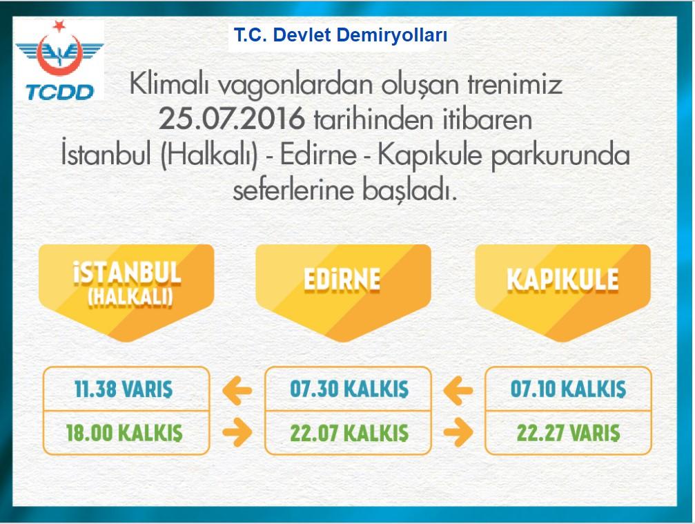 KAPIKULE HALKALI TRENLERİ HİZMETE BAŞLADI